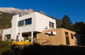 les étapes d'agrandissement d'une maison