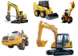 Engins de terrassement et machines de génie civil
